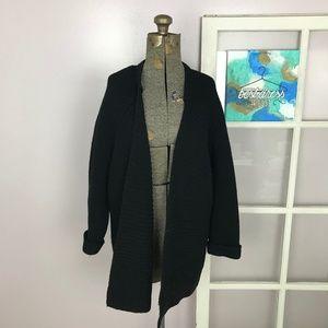 Madewell Black Drapefold Cardigan Sweater